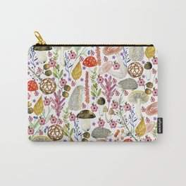 Colorful Autumn woodland animals and foliage pattern Tasche