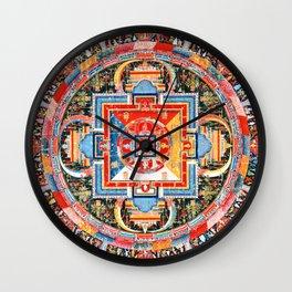 Mandala Buddhist 6 Wall Clock