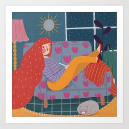 Quiet night Art Print