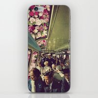 subway iPhone & iPod Skins featuring subway by Caroline A