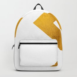 Arrow in Bold Gold Backpack