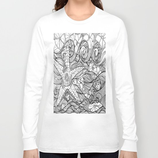 Starfish went out swimming Long Sleeve T-shirt