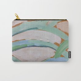 Brush Stokes Leaves Carry-All Pouch