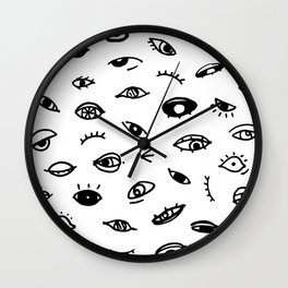 Bad Eyes (White) Wall Clock