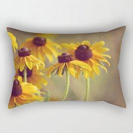 Yellow Hat Coneflowers Summer Botanical Rectangular Pillow