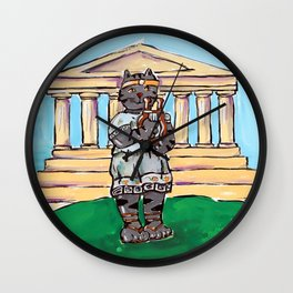 Greek Cat Wall Clock