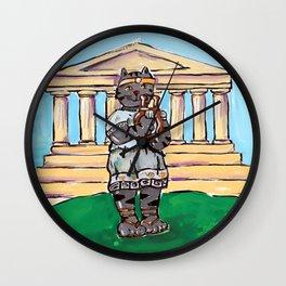 Greek Cat Wall Clock