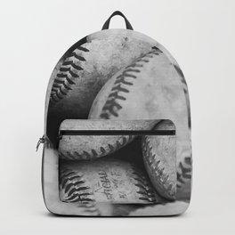 Baseballs Black & White Graphic Illustration Design Backpack
