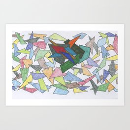 Shapes ... some bold Art Print