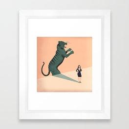 Business Woman Framed Art Print