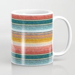 serape southwest stripe - orange & teal Coffee Mug