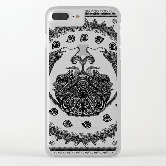 Henna of Pugly Clear iPhone Case