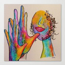 American Sign Language Grandmother Canvas Print