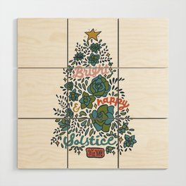 Bright and Happy Solstice Wood Wall Art
