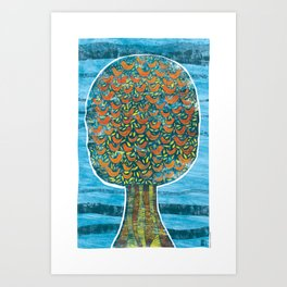 Tree and Birds Art Print