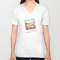 bali V-neck T-shirts featuring Bali beach 1983 by WAMTEES