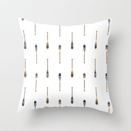 Painted Paddle Pattern Throw Pillow