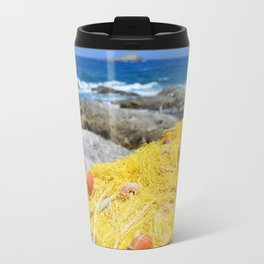 Fishing by the ocean Travel Mug