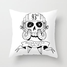 93rd Mechanized Cavalry Logo Throw Pillow