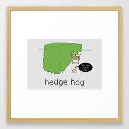Hog Framed Art Print