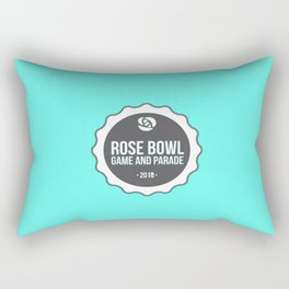 Rose Bowl blue Rectangular Pillow