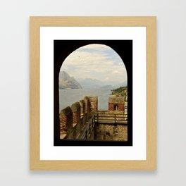 Malcesine lake Garda Italy Framed Art Print