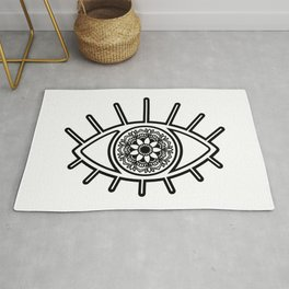 Mandala Evil Eye Rug