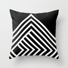 Tremendous Stripe-White&Black Throw Pillow