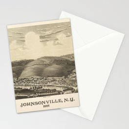 Aerial View of Johnsonville, New York (1887) Stationery Cards