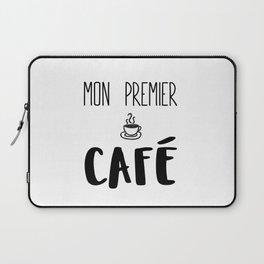 Mon premier CAFÉ Laptop Sleeve
