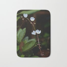 White flowers of aquatic plants Bath Mat