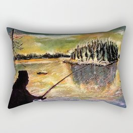 Twilight Fishing in August Rectangular Pillow
