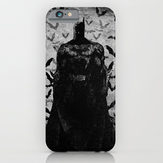 The night rises B&W iPhone & iPod Case