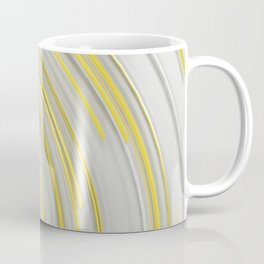 Glowing yellow concentric spirals on white Coffee Mug