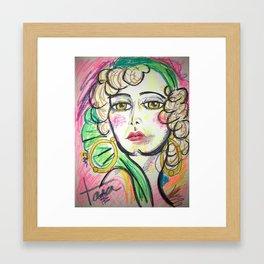 """Joan in """"Rain"""" Framed Art Print"""