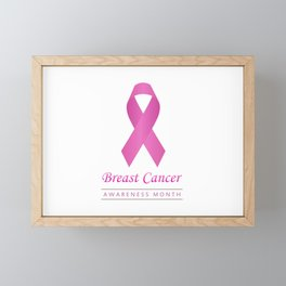 Breast cancer awareness pink ribbon- graphic to support women suffering from breast cancer Framed Mini Art Print