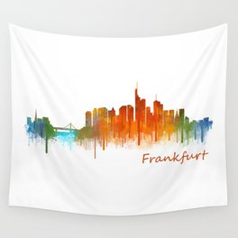 Frankfurt am Main, City Cityscape Skyline watercolor art v2 Wall Tapestry