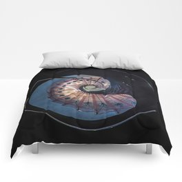 Spiral glass staircase Comforters