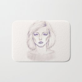 Debbie Harry from Andy Warhol famous picture Bath Mat