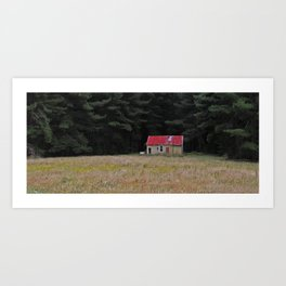 Red Roof Hut Art Print