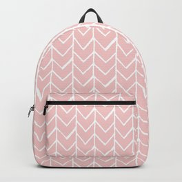 Herringbone Pink Backpack