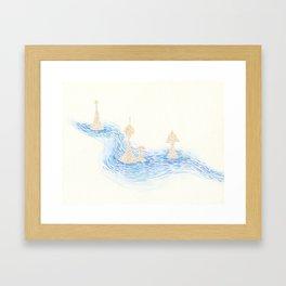 sand towers Framed Art Print