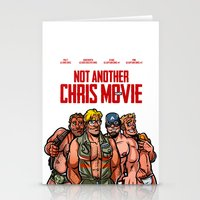 chris evans Stationery Cards featuring Not Another Chris Movie by Randy Meeks