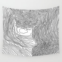 Pikes Peak Topo Map Wall Tapestry