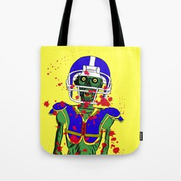 Zombie Football Player Tote Bag