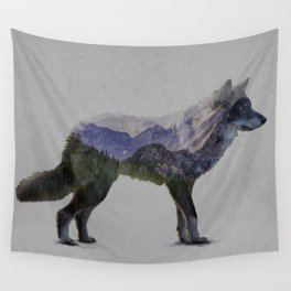 The Rocky Mountain Gray Wolf Wall Tapestry