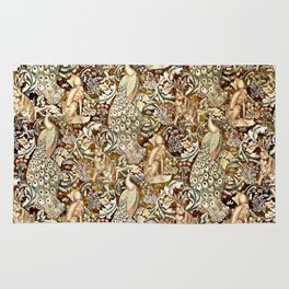 William Morris Forest Tapestry Pattern Rug