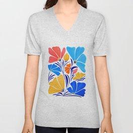 Modern Garden Party / Floral Illustration Unisex V-Neck