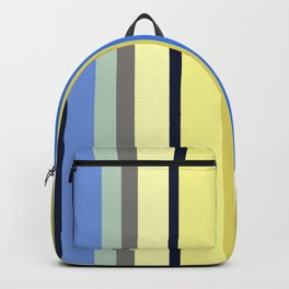 Blue and Moss Stripes Backpack