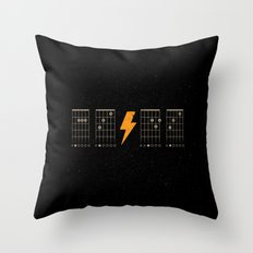 ACDC Back in Black Throw Pillow